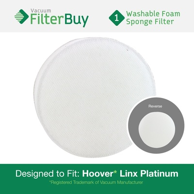 Hoover Linx Washable & Reusable Foam Sponge Filter. Designed to replace Part #'s 902185003, 001331007, 562161003, & 410044001.