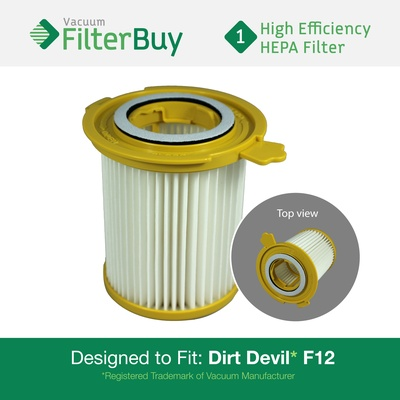 Dirt Devil F12 Washable HEPA Filter, Part #3KD1680000 (3-KD1680-000)