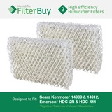 Emerson HDC-2R & HDC-411, Sears Kenmore 14909 & 14912 Humidifier Wick Filter