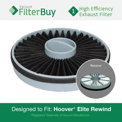 Hoover Elite Rewind Exhaust Filter. Replaces Part # 59157014