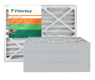 21.5x24x4 MERV 6 Pleated Air Filter