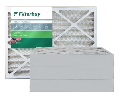 15x30.75x4 MERV 13 Pleated Air Filter