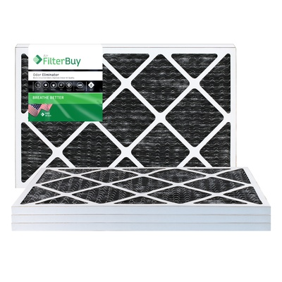 14x30x1 odor eliminator pleated air filter - filterbuy.com
