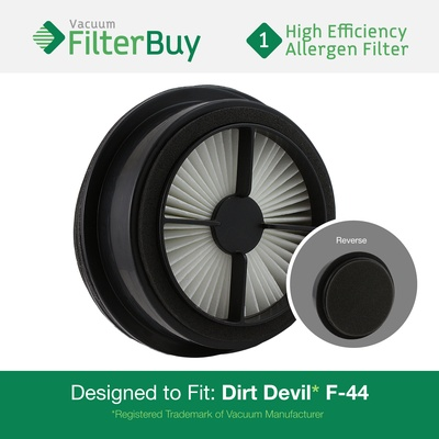 Dirt Devil F44 (F-44) Allergen HEPA Pre-Motor Filter with Foam. Replaces Part # 304019001 (3-04019-001)