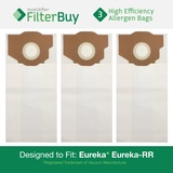 3 Eureka Type RR High Efficiency Allergen Bags. Compare to Part #'s 61115, 61115A, 61115B.