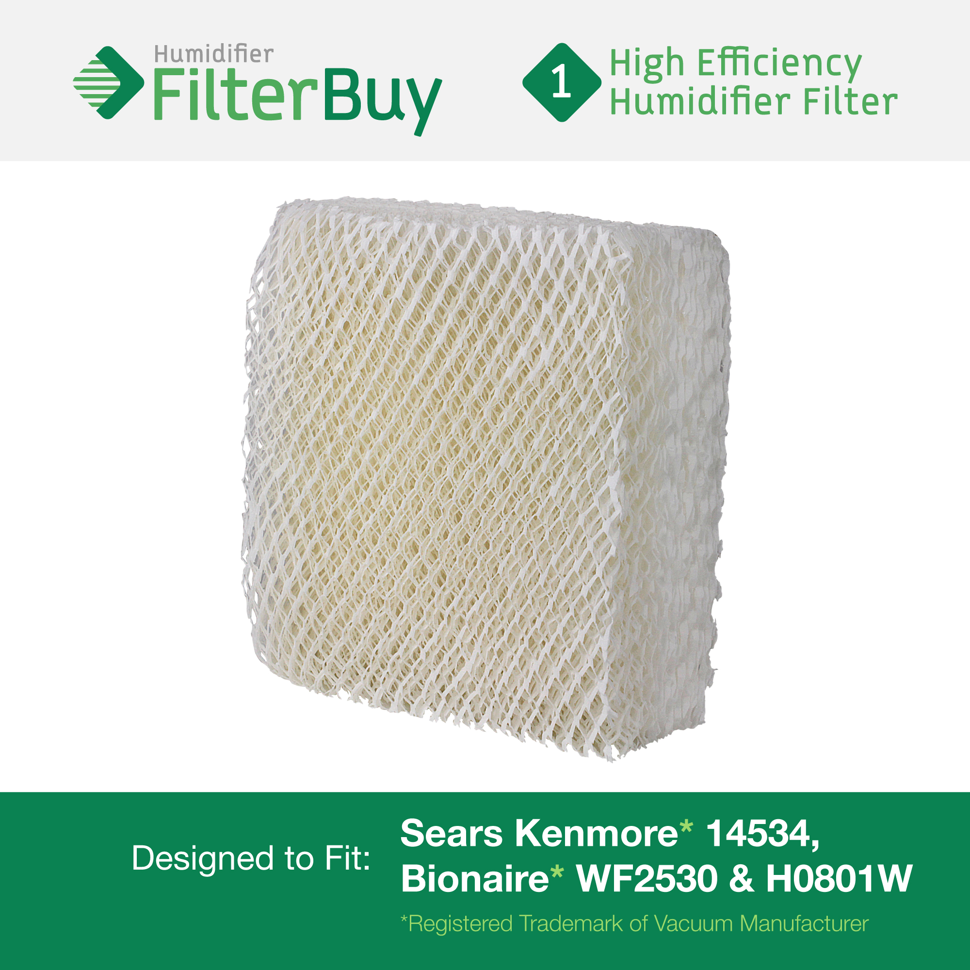 14534 Bionaire WF2530 & H0801W Humidifier Wick Filter FilterBuy.com #088150