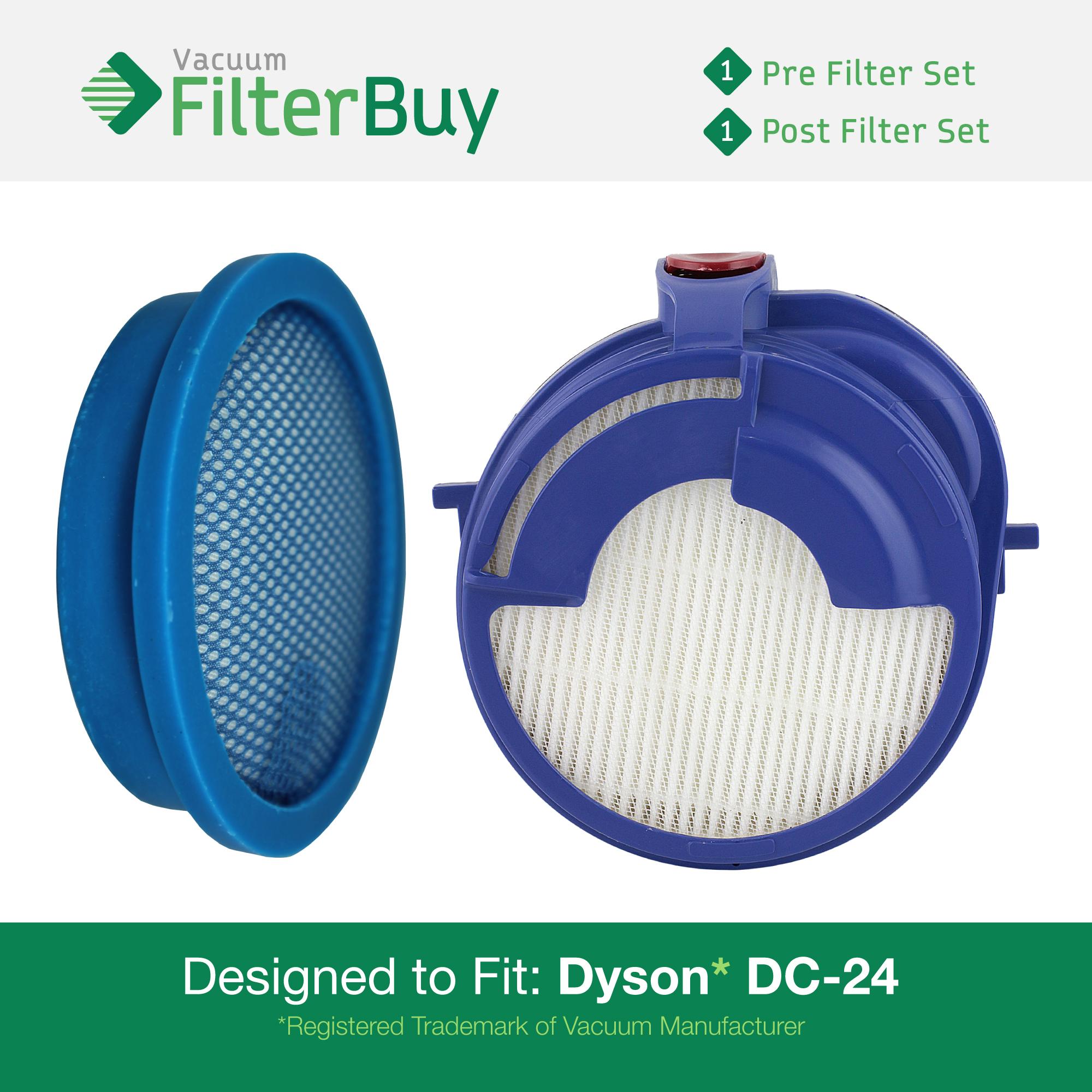 Dyson dc24 pre post motor filter kit part 39 s 913788 01 for Dyson pre motor filter