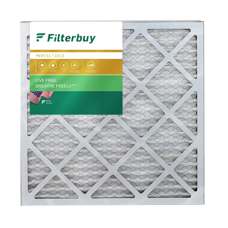 MERV 8 Air Filter//Furnace Filter Actual Size Accumulair Gold 17.5x22x1 2 Pack