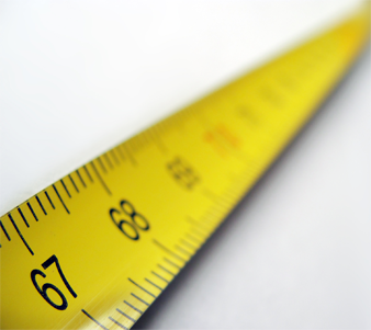 image of a tape measure used to measure your air filter