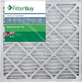 MERV 8 AFB Silver 4 Units Air Filter FilterBuy 25x25x1 Pleated HVAC AC Furnace