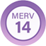 MERV 14 Product Badge