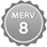 MERV 8 Badge Small